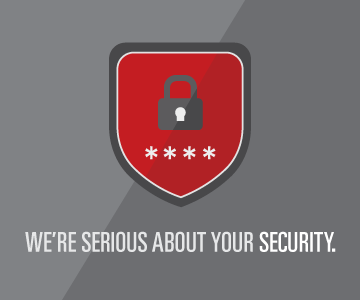 We're serious about your security.
