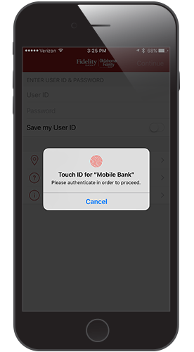 Touch ID Step 2